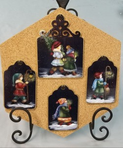 Carolers painted by Jean S