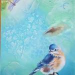 Mixed Media Blue Bird