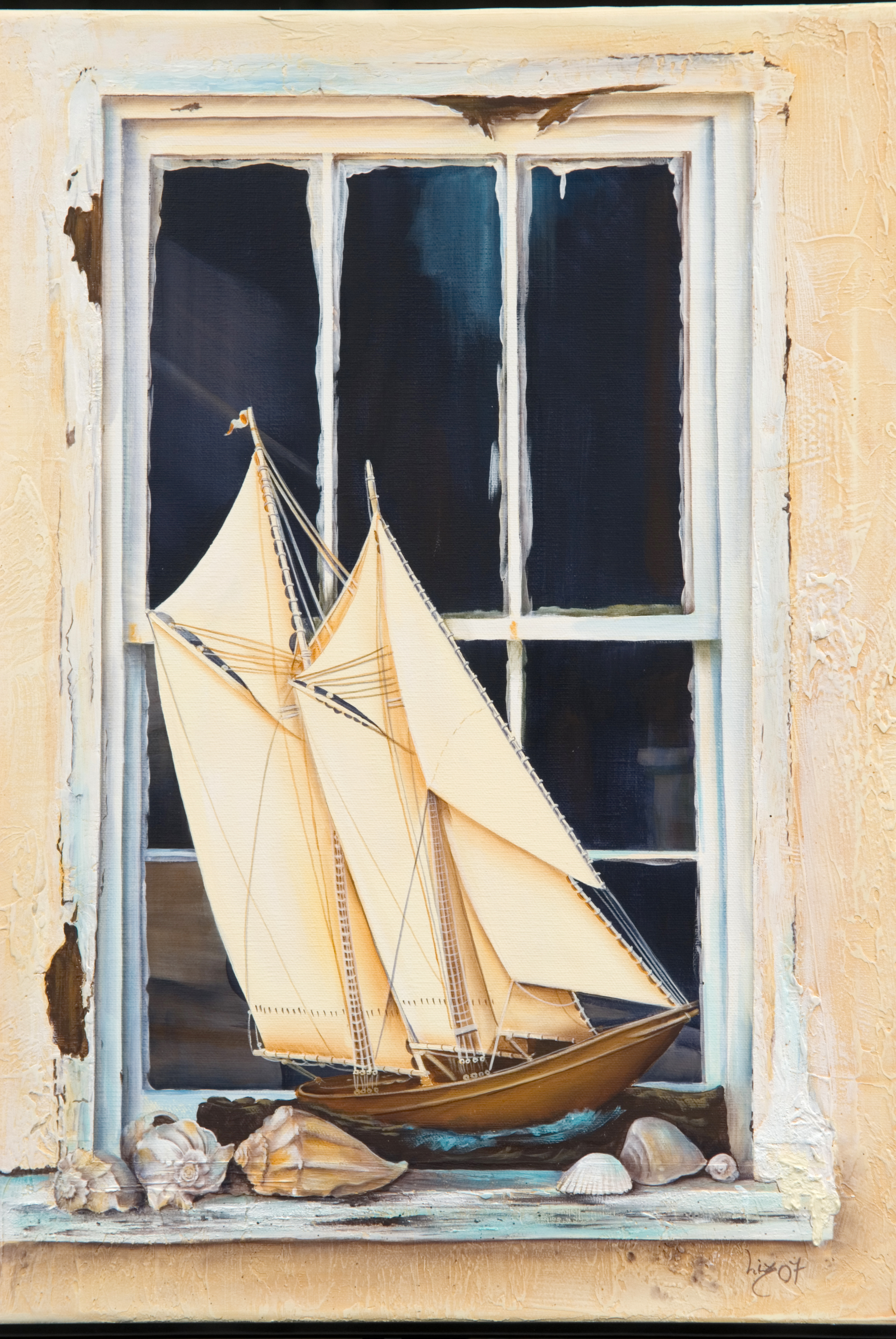 Sailboat in the Window