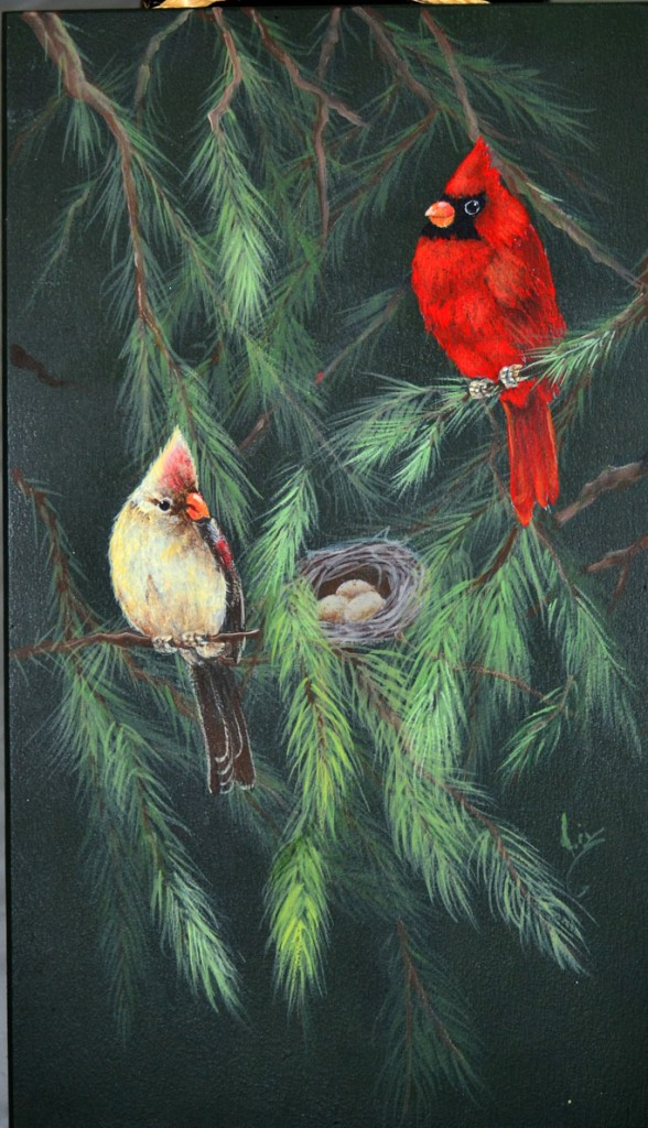 Cardinals In The Spruce Elaine Law design