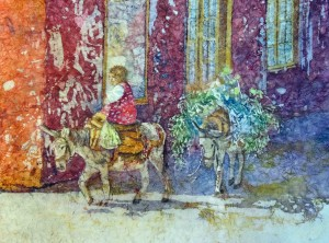 Donkeys Batik Kathie George design