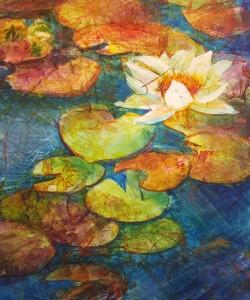 Water Lily Gelli Kathie George design