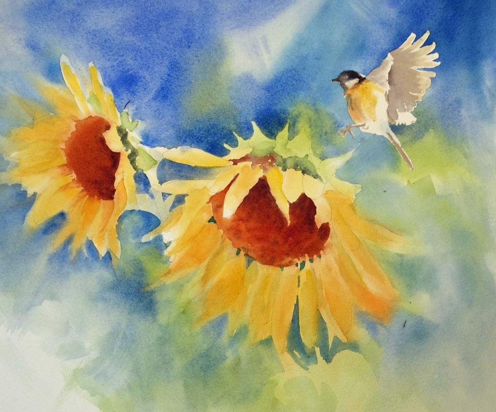 web-Sunflower-Chickadee