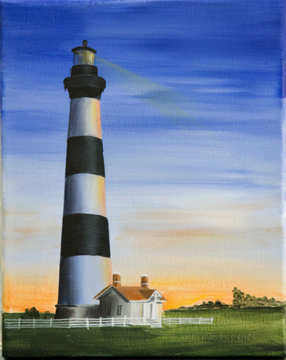 Bodie Lighthouse at Sunrise