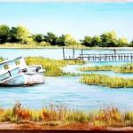 Coastal boat wreck