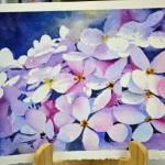 Hydrangeas Negative Painting
