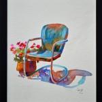 Blue Chair An Anne Abgott design