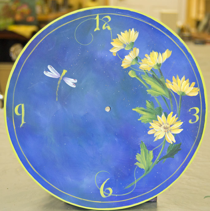 Basic Techniques Yellow Daisy clock Session 1