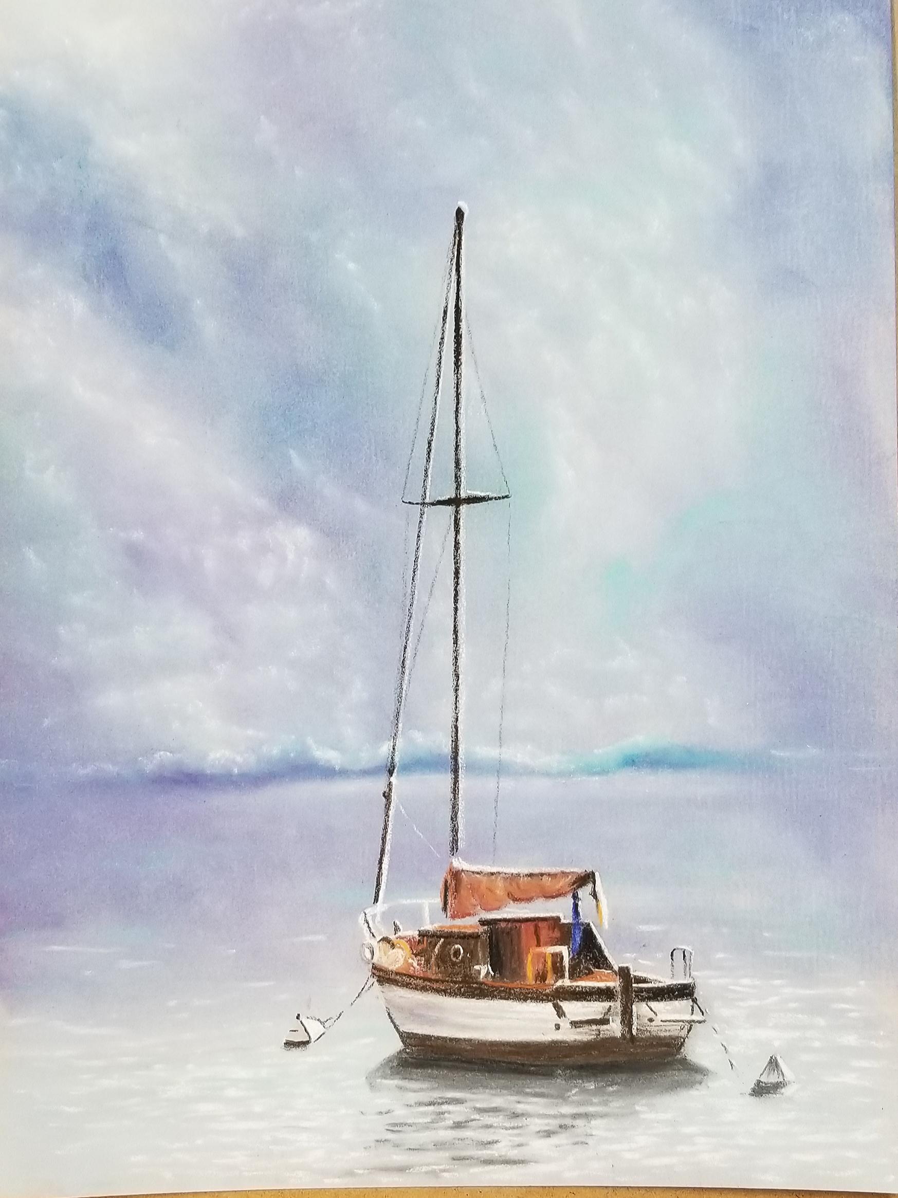 Italian Sailboat pastel