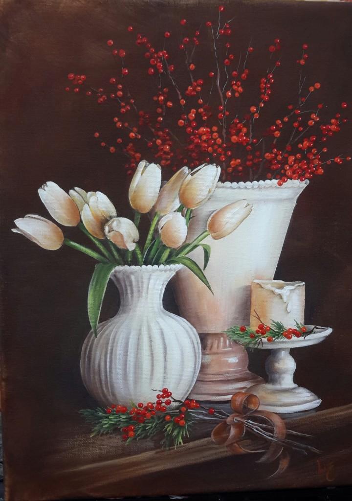 White Tulips Liz Miller CDA design