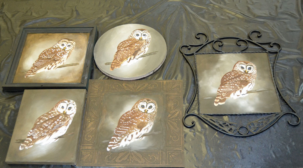 Barred owls by my talented students.