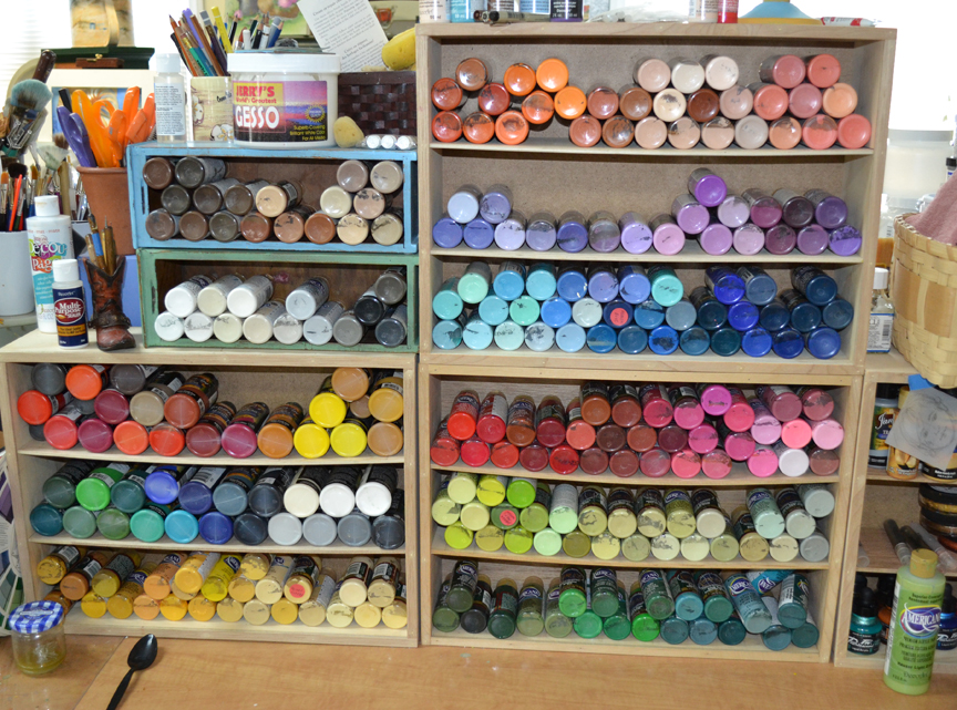 Paint storage racks
