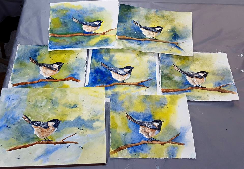 Black Capped Chickadee, Artful Endeavors Students