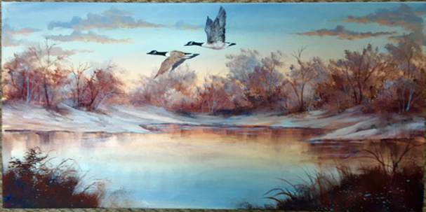 Ros Stallcup American Scene: Canada Geese