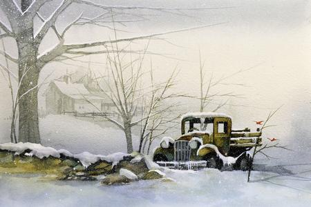 Sunday: Truck in Snow