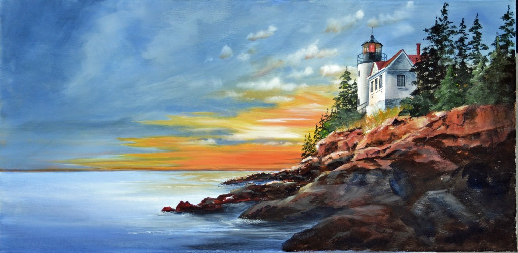 Bass Harbor light finished