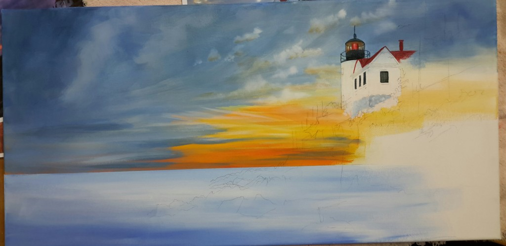Bass Harbor Light: Step 3